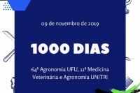 1000 DIAS - 64ª Agronomia UFU, 11ª Medicina Veterinária e Agronomia UNITRI