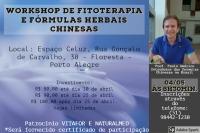 Workshop de Fitoterapia e Formulas Herbais Chinesas