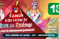 R3d Monk3ey 3 ANOS Open de picolé Festa do ridículo