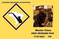 MASTER CLASS DE SAXOFONE - ERIK HEIMANN PAIS - 17/07/2021 - 14h