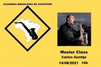 MASTER CLASS DE SAXOFONE - CARLOS GONTIJO - 14/08/2021 - 10h